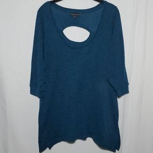 Lane Bryant Scoop Back Cut Out Textured Sweater